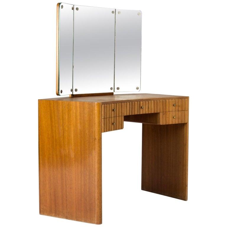 Mahogany Dressing Table by Carl-Axel Acking for Nordiska Kompaniet For Sale