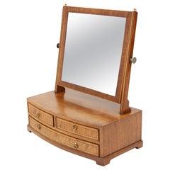 Mahogany Dressing Table Swing Mirror Toilet, 19th Century