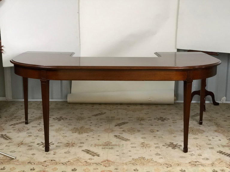 Mahogany Drop Leaf Demilune Desk For Sale 3