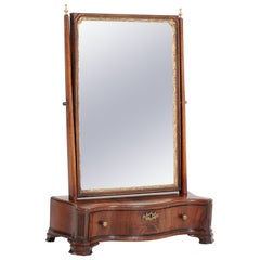 Mahogany Dutch Biedermeier Table Mirror or Vanity, 1830s