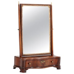 Mahogany Dutch Biedermeier Table Mirror or Vanity, 1830s