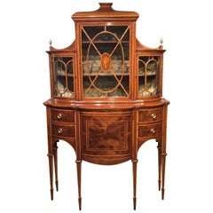Mahogany Edwardian Period Sheraton Revival Display Cabinet