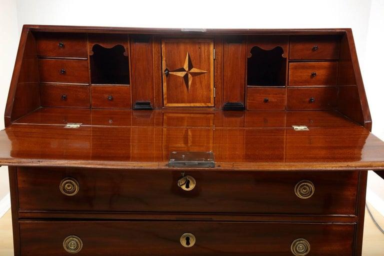 Mahogany Empire Secretaire, circa 1790 For Sale 4