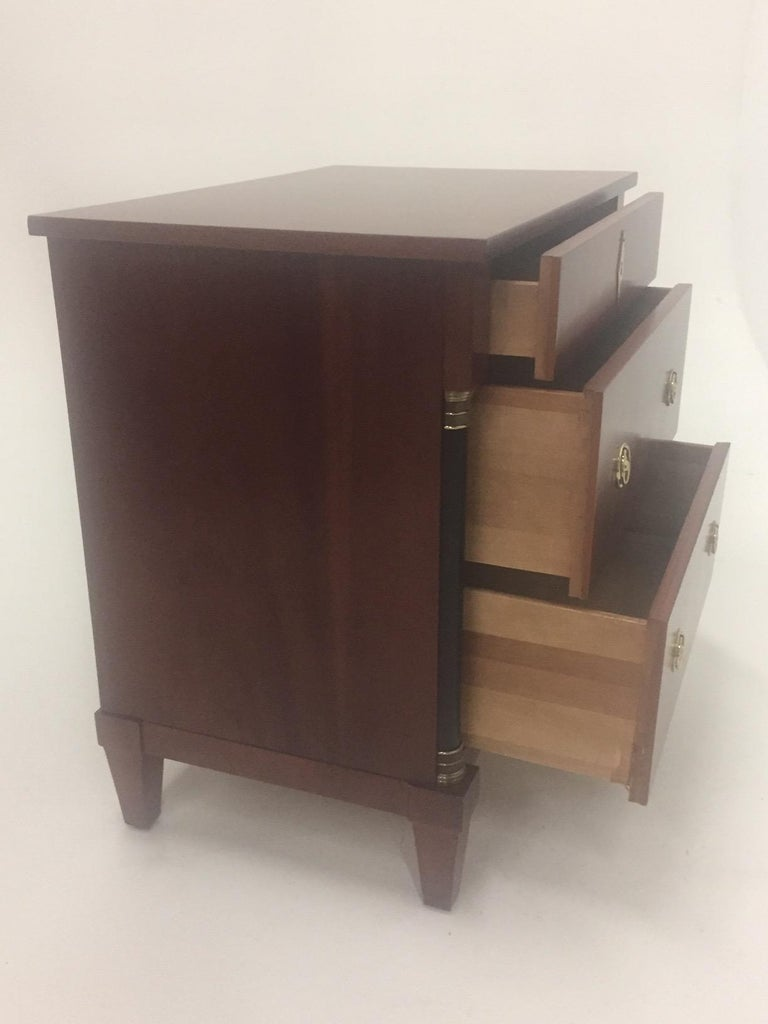 Italian Mahogany Empire Style Small Chest of Drawers Commode For Sale