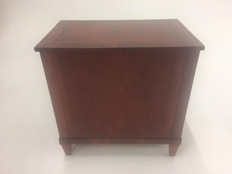 Mahogany Empire Style Small Chest of Drawers Commode In Excellent Condition For Sale In Hopewell, NJ