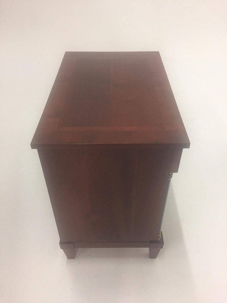 Mahogany Empire Style Small Chest of Drawers Commode For Sale 3