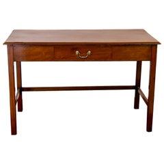 Mahogany English One Drawer Table
