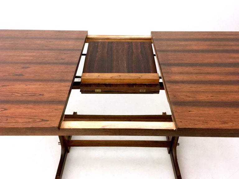 Mahogany Extendible Dining Table, Italy, 1960s In Excellent Condition For Sale In Bresso, Lombardy