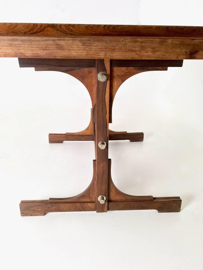 Mahogany Extendible Dining Table, Italy, 1960s For Sale 1
