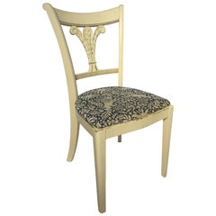 Mahogany Federal Style Fleur De Lis Plume Side Accent Chair