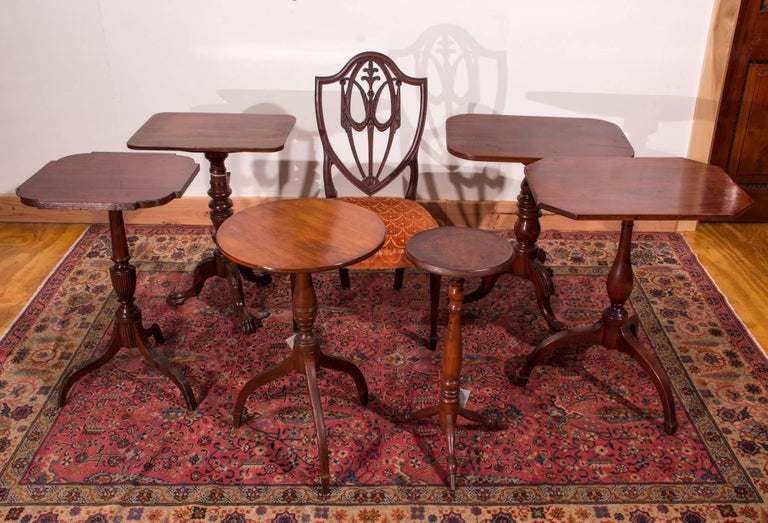 Mahogany Federal Tilt Top Table With Spider Legs For Sale