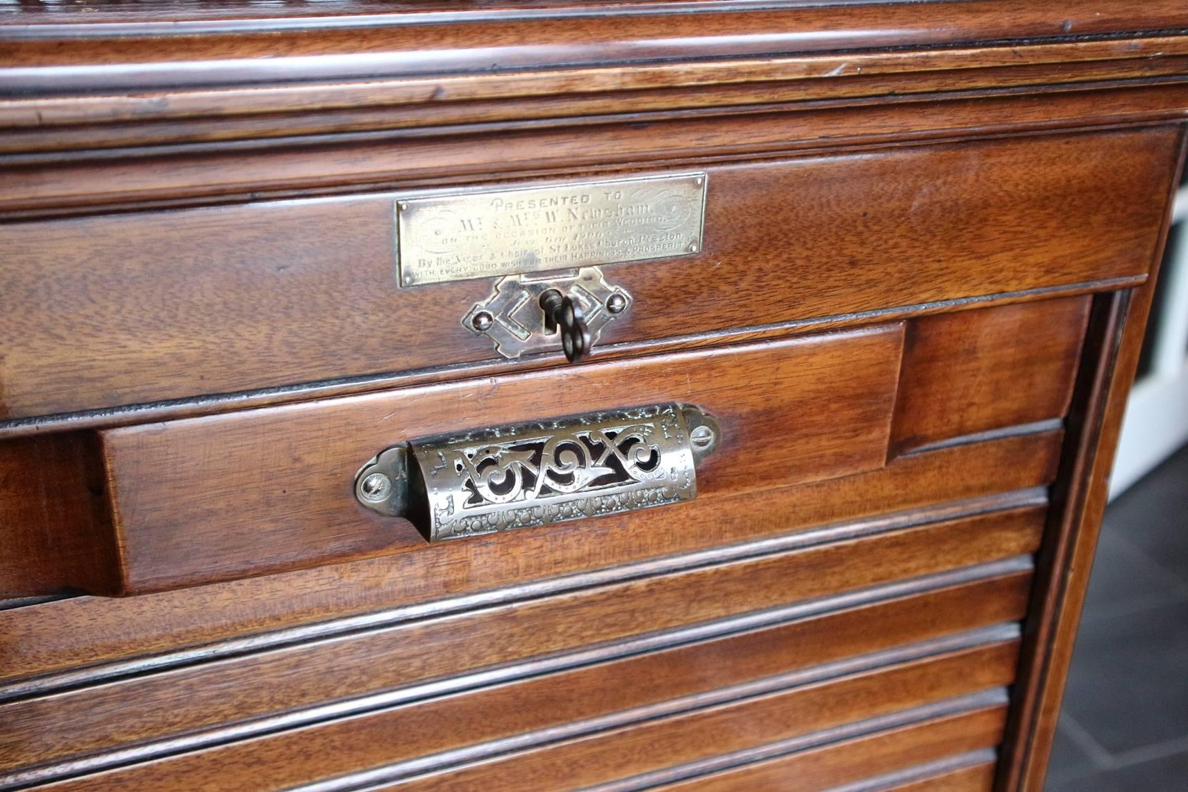 Great Britain (UK) Mahogany File Cabinet With Shutter For Sale