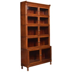Mahogany Five Sectional Bookcase