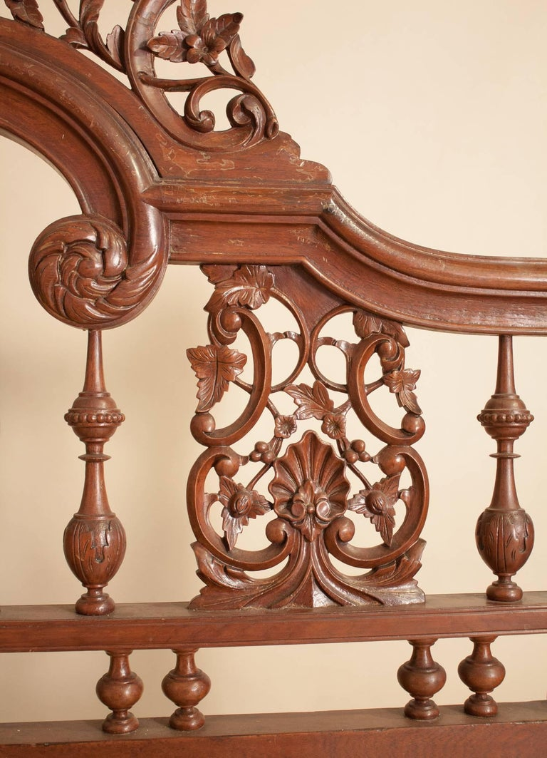 Mahogany Four Post Tester or Canopy Bed from British India For Sale 4
