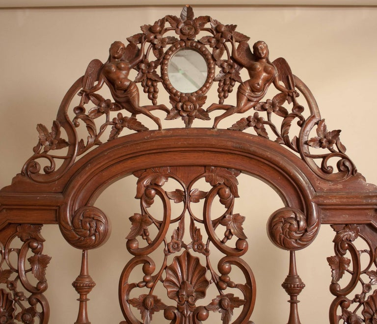 Mirror Mahogany Four Post Tester or Canopy Bed from British India For Sale