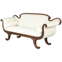 Mahogany Framed Regency Period Sofa
