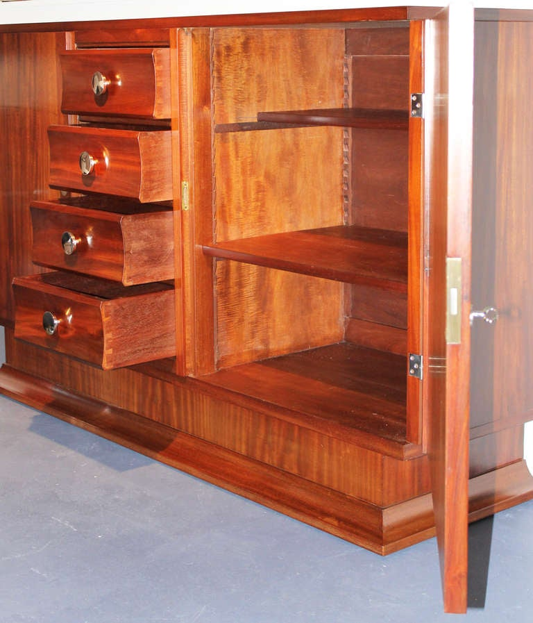 Mahogany French Art Deco Buffet For Sale 5