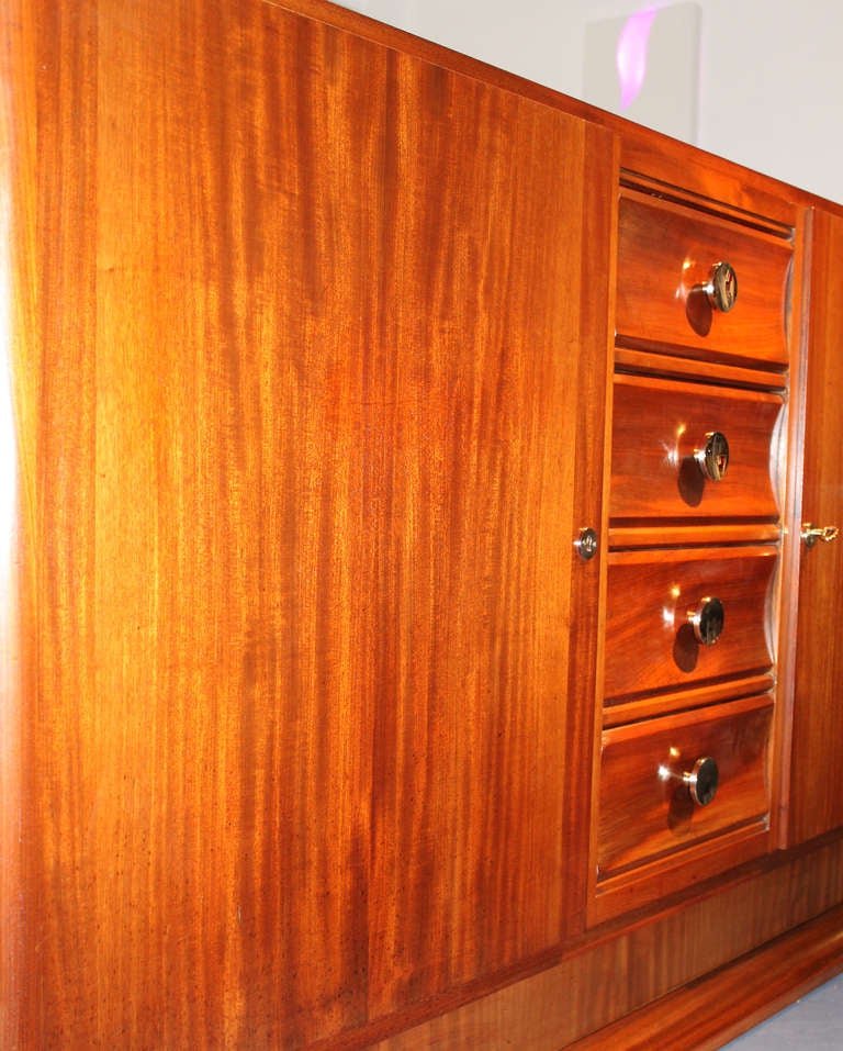 Mahogany French Art Deco Buffet In Good Condition For Sale In Miami, FL