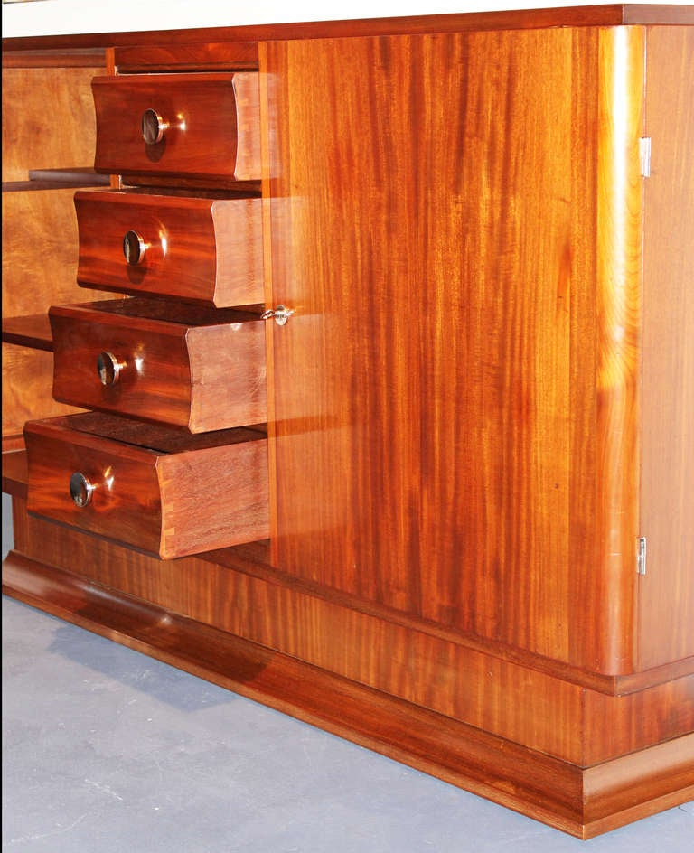 Mahogany French Art Deco Buffet For Sale 1