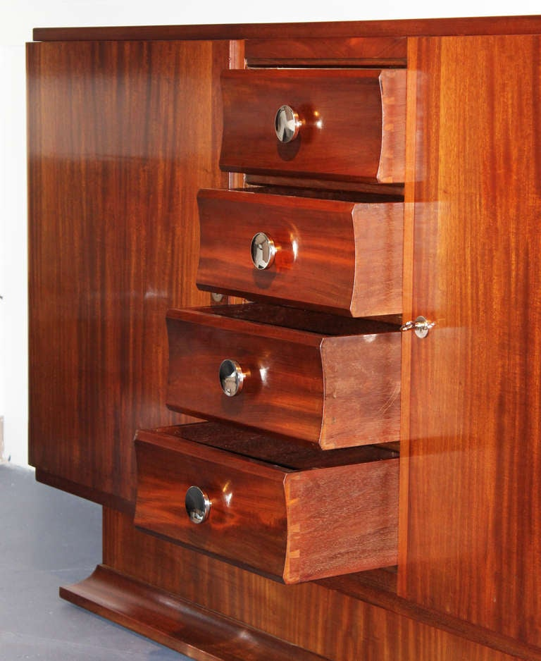 Mahogany French Art Deco Buffet For Sale 2