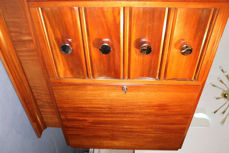 Mahogany French Art Deco Buffet For Sale 4