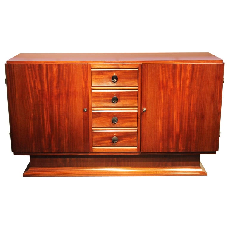 Mahogany French Art Deco Buffet For Sale