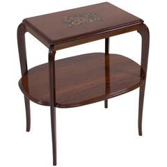 Mahogany French Art Deco Side Table by Louis Majorelle, 1920s