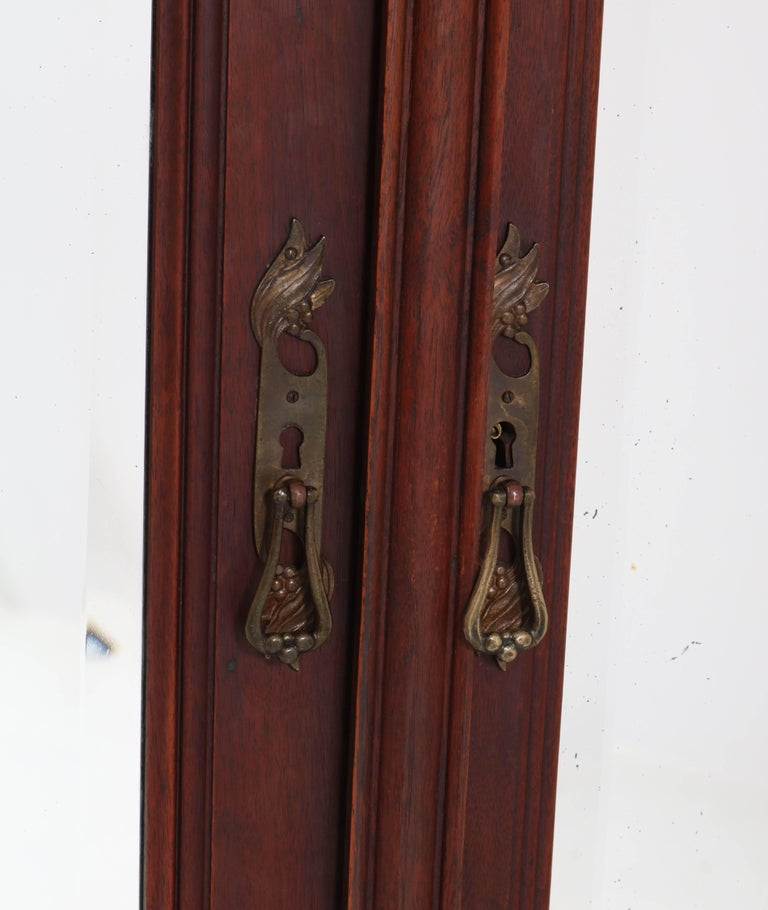 Mahogany French Art Nouveau Armoire or Wardrobe, 1900s For Sale 3