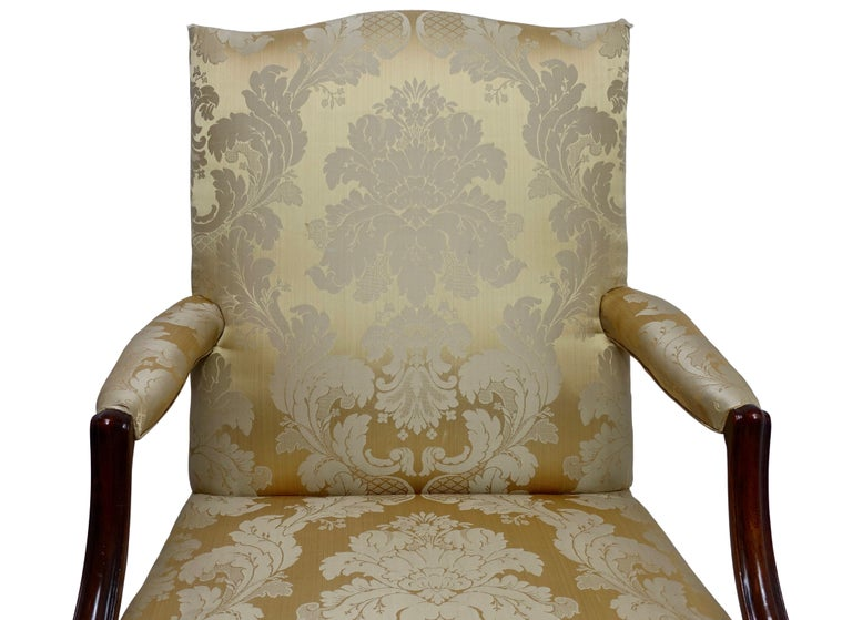 George III Mahogany Gainsborough Library Chair, England 18th Century For Sale