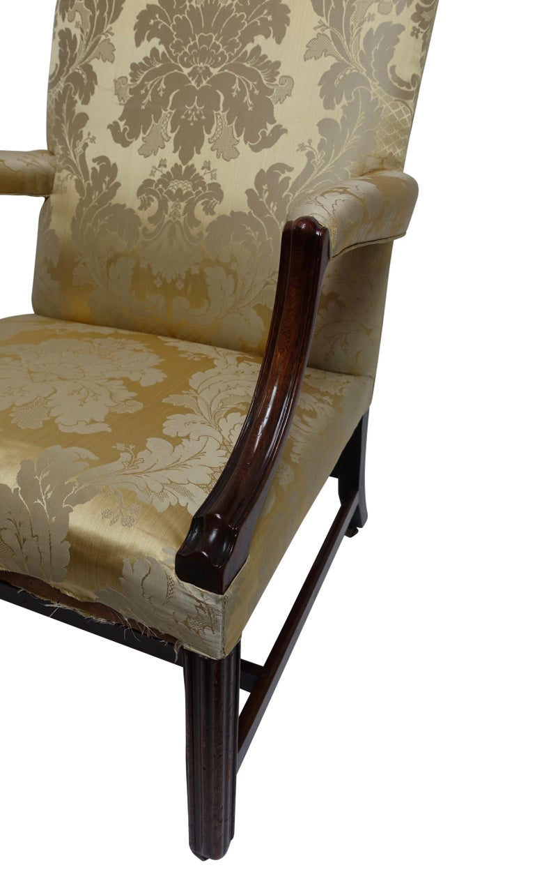 English Mahogany Gainsborough Library Chair, England 18th Century For Sale