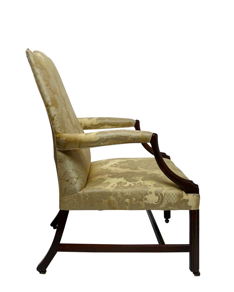 Mahogany Gainsborough Library Chair, England 18th Century In Good Condition For Sale In San Francisco, CA