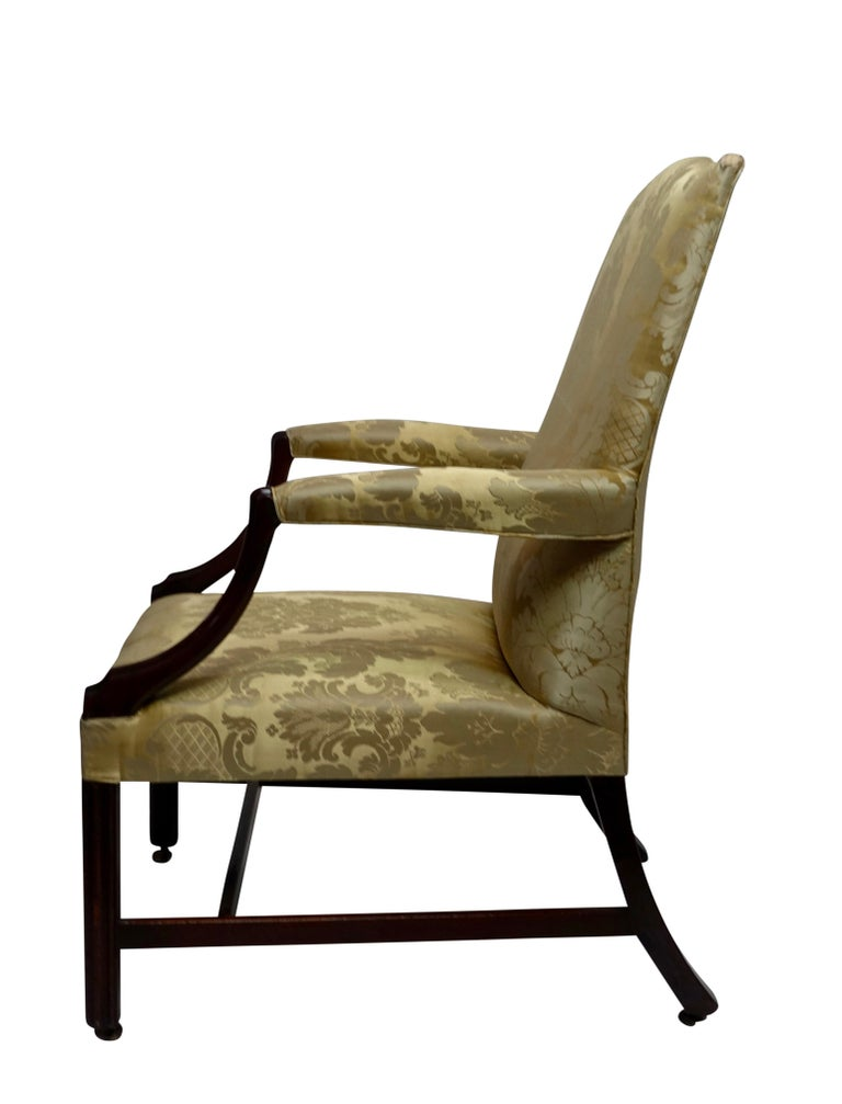 Mahogany Gainsborough Library Chair, England 18th Century For Sale 1