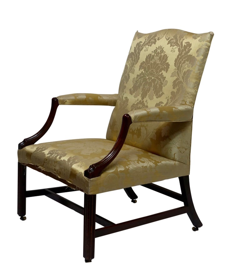 Mahogany Gainsborough Library Chair, England 18th Century For Sale 2