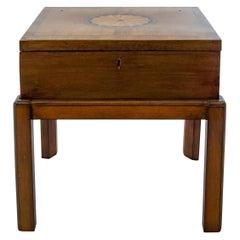 Mahogany George III Lap Desk on Stand