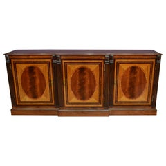 Mahogany Georgian Style Three-Door Buffet Credenza by Leighton Hall