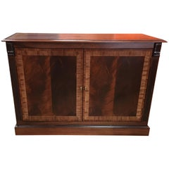 Mahogany Georgian Style Two-Door Buffet/Leaf Storage Cabinet by Leighton Hall