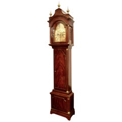 Mahogany Grandfather clock, William Webster, London, England, 1711-1770.