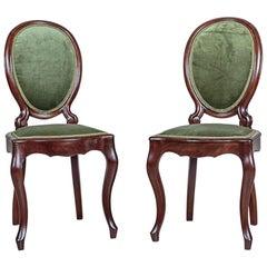 Mahogany, Green Chairs from 1870