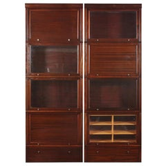 Mahogany Haberdashery and Accessories Cabinets Bookcases