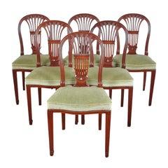 Mahogany Harp-Back Chairs