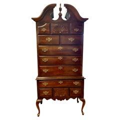 Mahogany Highboy Dresser Chest of Drawers Gentelmen's Wardrobe