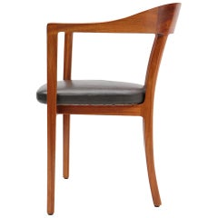 Mahogany Humpback Armchair by Ole Wanscher for A.J. Iversen
