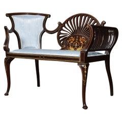 Mahogany Inlaid Couch