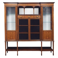 Mahogany Inlaid Display Cabinet by Maple and Co