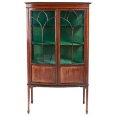 Mahogany Inlaid Display Cabinet, circa 1900
