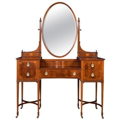 Mahogany Inlaid Dressing Table