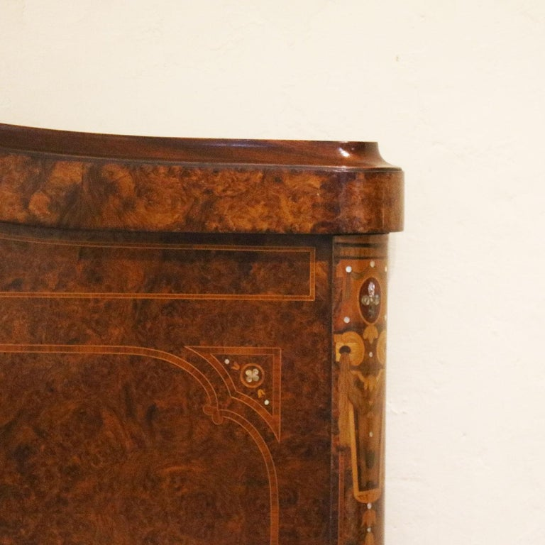 King Mother Of Pearl Headboard By The Yard: Mahogany Inlaid Mother Of Pearl Antique Bed