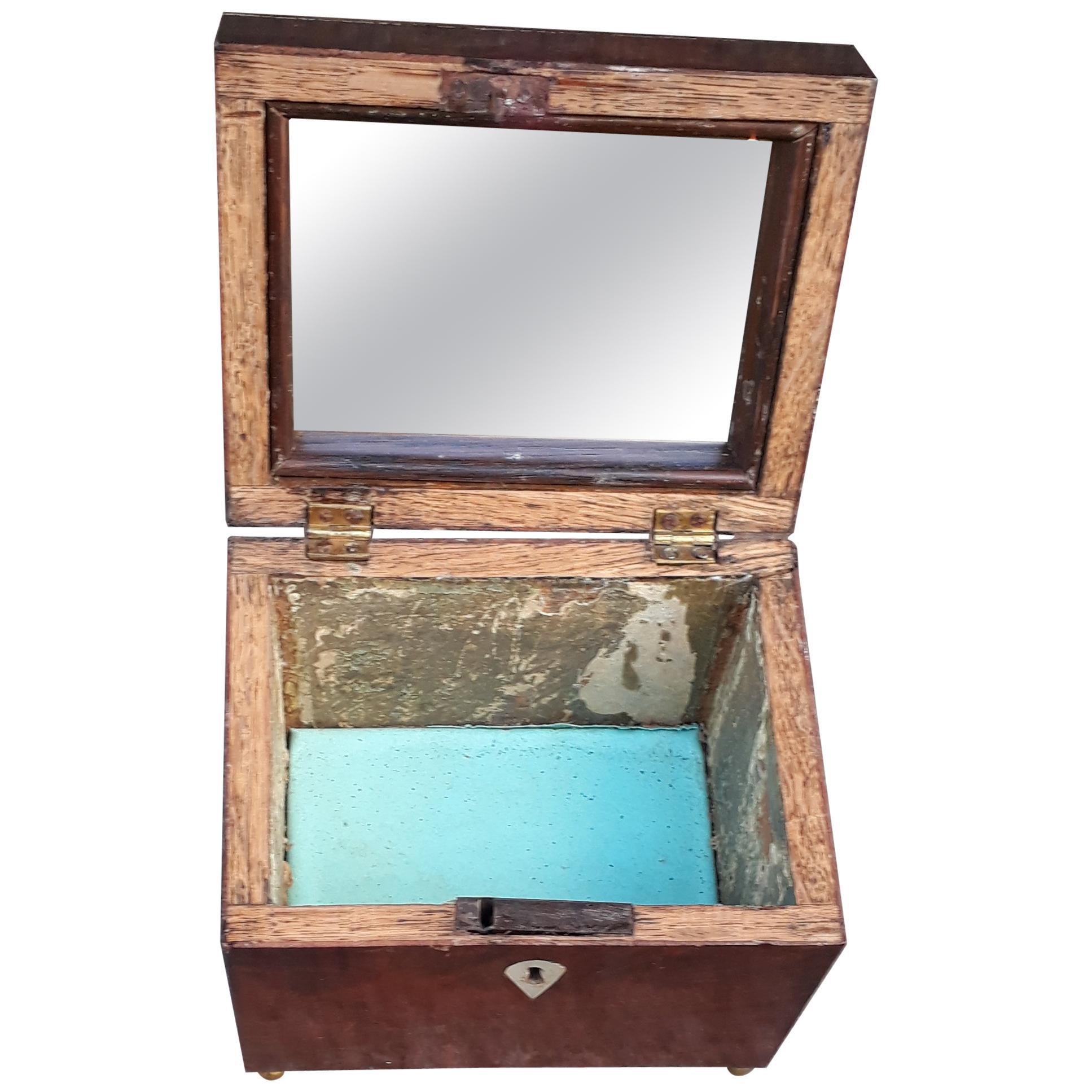 Mahogany Jewelry Box with Mirror