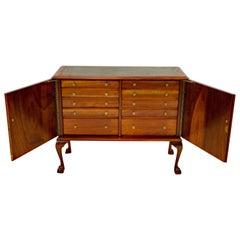 Mahogany Jewelry, Silverware Cabinet