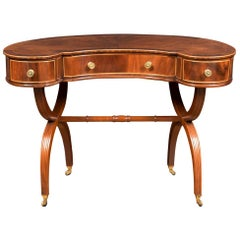 Mahogany Kidney Shaped Ladies Dressing Table